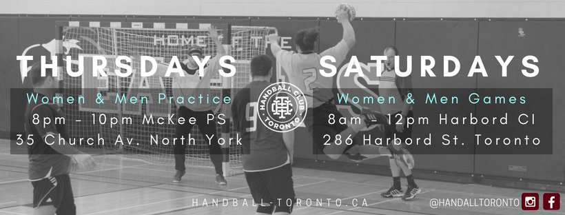 Handball Club Toronto First training and games