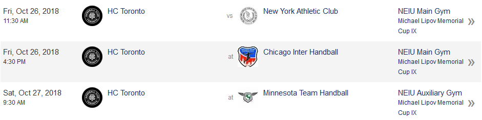 Chicago tournament schedule pool